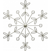 Winter Day- Snowflake Doodle 3