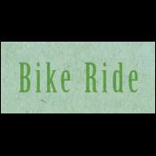 Spring Day- Bike Ride Word Art
