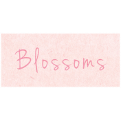 Spring Day- Blossoms Word Art