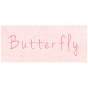 Spring Day- Butterfly Word Art