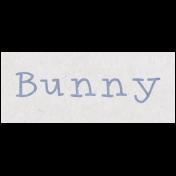 Spring Day- Bunny Word Art
