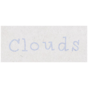 Spring Day- Clouds Word Art