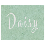 Spring Day- Daisy Word Art