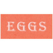 Spring Day- Eggs Word Art
