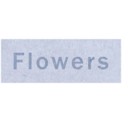 Spring Day- Flowers Word Art