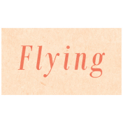 Spring Day- Flying Word Art