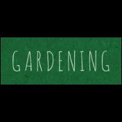 Spring Day- Gardening Word Art
