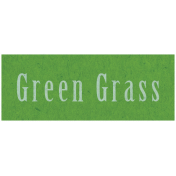 Spring Day- Green Grass Word Art