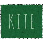 Spring Day- Kite Word Art
