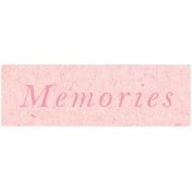 Spring Day- Memories Word Art