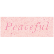 Spring Day- Peaceful Word Art