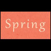 Spring Day- Spring Word Art