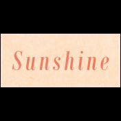 Spring Day- Sunshine Word Art