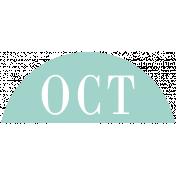 Toolbox Calendar- Date Sticker Kit- Months- Light Teal October