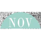 Toolbox Calendar- Date Sticker Kit- Months- Light Teal November