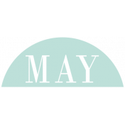 Toolbox Calendar- Date Sticker Kit- Months- Light Teal May