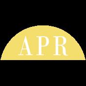 Toolbox Calendar- Date Sticker Kit- Months- Light Yellow April
