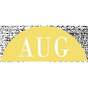 Toolbox Calendar- Date Sticker Kit- Months- Light Yellow August