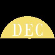 Toolbox Calendar- Date Sticker Kit- Months- Light Yellow December