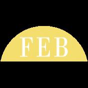 Toolbox Calendar- Date Sticker Kit- Months- Light Yellow February