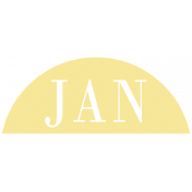 Toolbox Calendar- Date Sticker Kit- Months- Light Yellow January