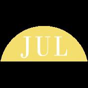 Toolbox Calendar- Date Sticker Kit- Months- Light Yellow July