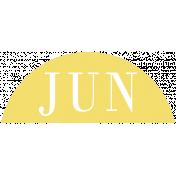Toolbox Calendar- Date Sticker Kit- Months- Light Yellow June