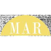 Toolbox Calendar- Date Sticker Kit- Months- Light Yellow March
