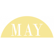 Toolbox Calendar- Date Sticker Kit- Months- Light Yellow May