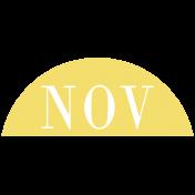 Toolbox Calendar- Date Sticker Kit- Months- Light Yellow November