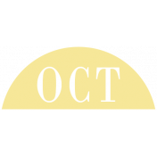 Toolbox Calendar- Date Sticker Kit- Months- Light Yellow October