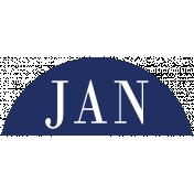 Toolbox Calendar- Date Sticker Kit- Months- Navy January