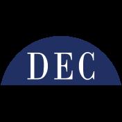 Toolbox Calendar- Date Sticker Kit- Months- Navy December