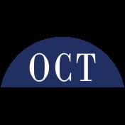 Toolbox Calendar- Date Sticker Kit- Months- Navy October