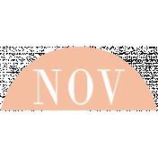 Toolbox Calendar- Date Sticker Kit- Months- Peach November