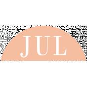 Toolbox Calendar- Date Sticker Kit- Months- Peach July