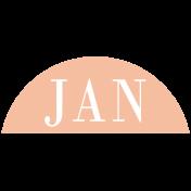 Toolbox Calendar- Date Sticker Kit- Months- Peach January
