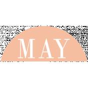 Toolbox Calendar- Date Sticker Kit- Months- Peach May