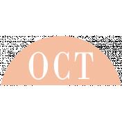 Toolbox Calendar- Date Sticker Kit- Months- Peach October