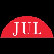 Toolbox Calendar- Date Sticker Kit- Months- Red July