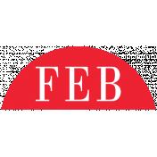 Toolbox Calendar- Date Sticker Kit- Months- Red February