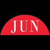 Toolbox Calendar- Date Sticker Kit- Months- Red June