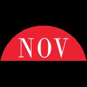 Toolbox Calendar- Date Sticker Kit- Months- Red November
