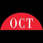 Toolbox Calendar- Date Sticker Kit- Months- Red October
