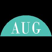 Toolbox Calendar- Date Sticker Kit- Months- Teal August