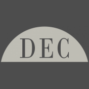 Toolbox Calendar- Date Sticker Kit- Months- White December