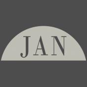 Toolbox Calendar- Date Sticker Kit- Months- White January