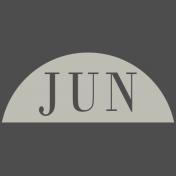 Toolbox Calendar- Date Sticker Kit- Months- White June