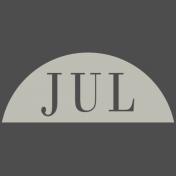 Toolbox Calendar- Date Sticker Kit- Months- White July