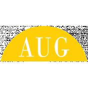 Toolbox Calendar- Date Sticker Kit- Months- Yellow August